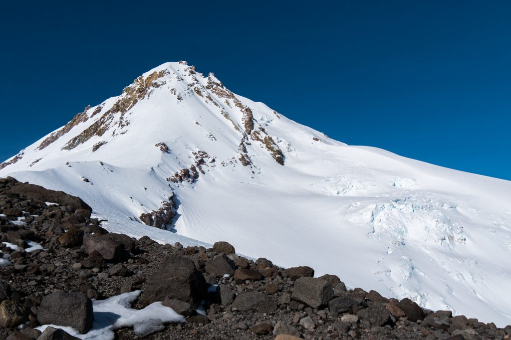Mt. Hood's northern routes and Elliot Glacier