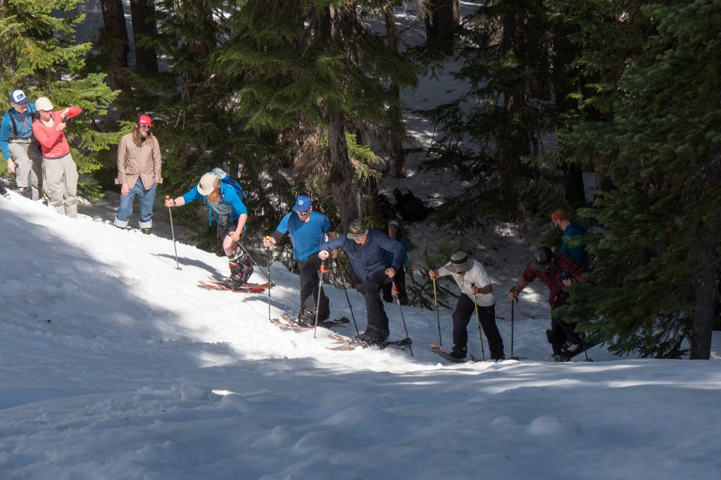 Men's uphill and downhill gully race