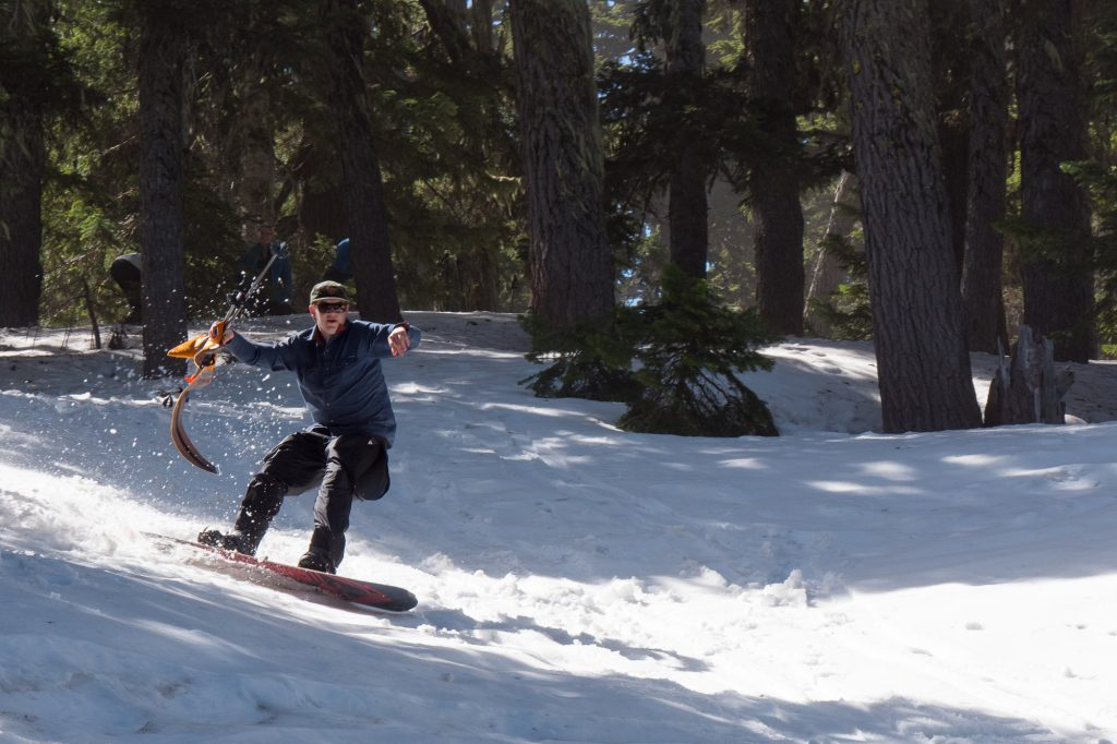 Andrew taking first in the men's gully race