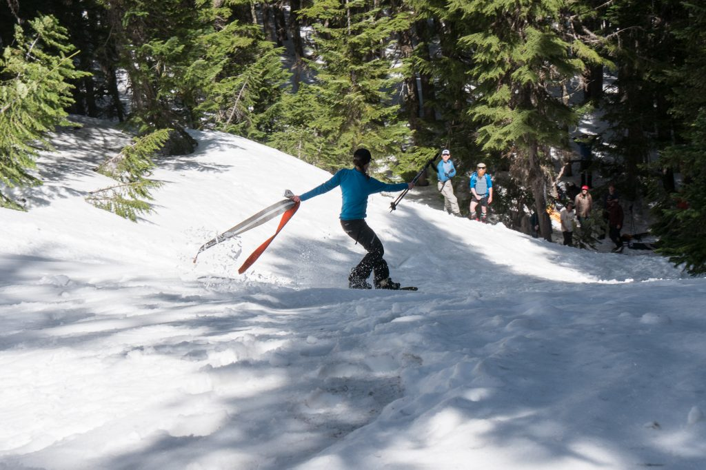 Noelle Veveiros taking first in ladies gully race